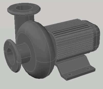 imagen Bomba centrifuga 3d, en Equipos de bombeo - Máquinas instalaciones