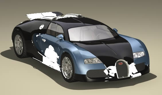 imagen Bugatti veyron 3d, en Automóviles en 3d - Medios de transporte