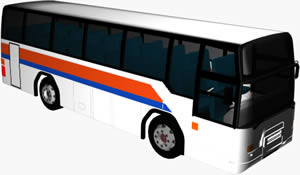 imagen Bus 3d con materiales aplicados, en Autobuses - Medios de transporte