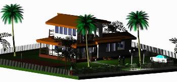 imagen Cabaña 3d, en Vivienda unifamiliar 3d - Proyectos