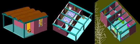 imagen Cabañas, en Vivienda unifamiliar 3d - Proyectos