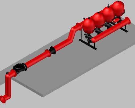 imagen Cabezal de filtrado para riego por goteo, en Instalaciones de riego - Granjas e inst. agropecuarias