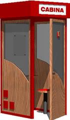 imagen Cabina telefonica 3d, en Cabinas de telefonía publica - Equipamiento urbano