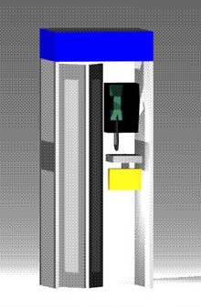 imagen Cabina telefonica completa 3d, en Cabinas de telefonía publica - Equipamiento urbano