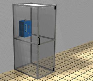imagen Cabina telefonica, en Cabinas de telefonía publica - Equipamiento urbano