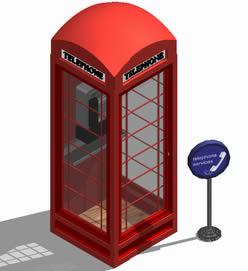 imagen Cabina telefónica estilo inglés, en Cabinas de telefonía publica - Equipamiento urbano