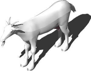imagen Cabra 3d, en Animales 3d - Animales