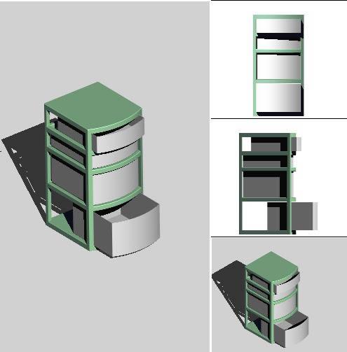 imagen Cajonera 3d, en Oficinas y laboratorios - Muebles equipamiento