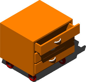 imagen Cajonera con ruedas 3d, en Oficinas y laboratorios - Muebles equipamiento