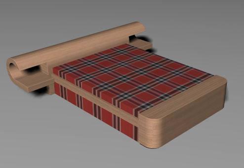 Cama 3d en dormitorios muebles equipamiento en planospara for Cama 3d dibujo