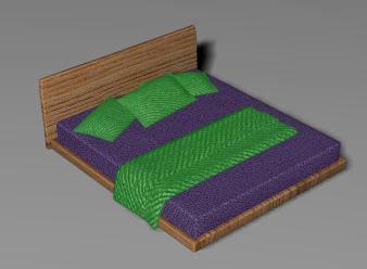 Cama 3d max en muebles varios muebles equipamiento en for Cama 3d dibujo