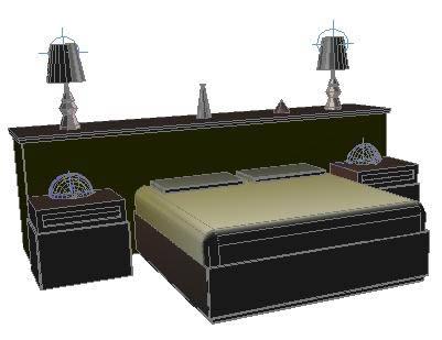 Planos de cama cabecera doble 3d en muebles varios for Cama 3d dibujo