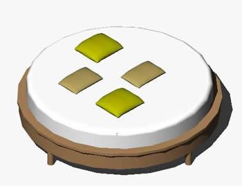 imagen Cama circular 3d, en Dormitorios - Muebles equipamiento