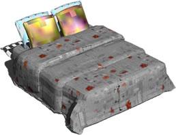 imagen Cama de dos plazas 3d, en Dormitorios - Muebles equipamiento