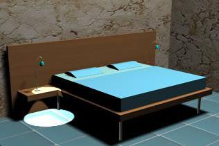 imagen Cama de dos plazas, en Dormitorios - Muebles equipamiento