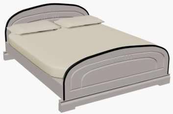 imagen Cama doble 3d, en Dormitorios - Muebles equipamiento