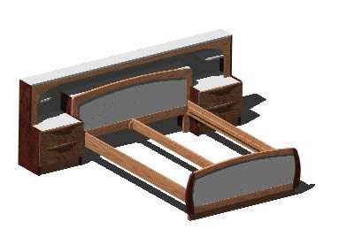 Planos de cama doble 3d en dormitorios muebles for Cama 3d dibujo