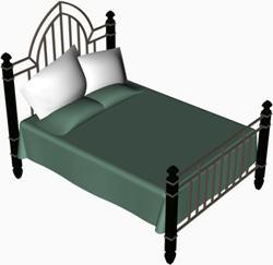 imagen Cama doble, en Dormitorios - Muebles equipamiento