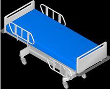 imagen Cama hospital, en Equipamiento - Hospitales