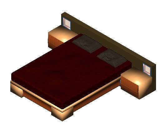 Dormitorios archives p gina 17 de 22 planos de casas for Cama 3d dibujo