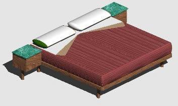 imagen Cama matrimonial, en Dormitorios - Muebles equipamiento