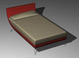 imagen Cama plaza y media 3d, en Dormitorios - Muebles equipamiento