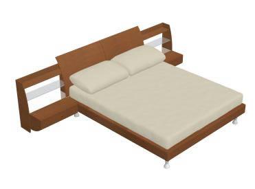 Dormitorios archives p gina 4 de 22 planos de casas for Cama 3d dibujo