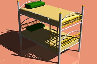 imagen Camarote tubular - cama cucheta, en Dormitorios - Muebles equipamiento