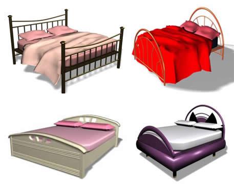 imagen Camas en 3ds max, en Dormitorios - Muebles equipamiento