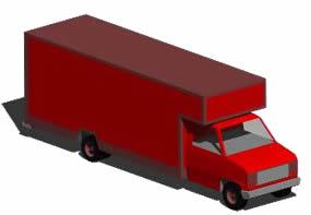 imagen Camión con caja cerrada 3d, en Camiones - Medios de transporte