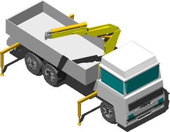 imagen Camion con grua 3d, en Camiones - Medios de transporte
