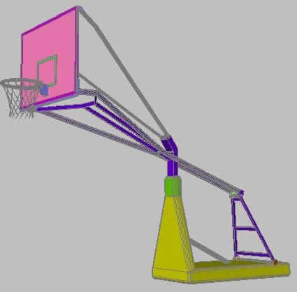 imagen Canasta de baloncesto 3d, en Canchas - Deportes y recreación