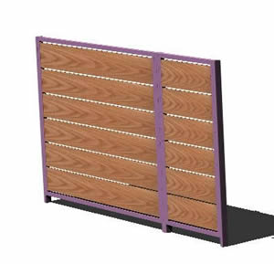 imagen Cancelas de acceso de madera 3d, en Puertas 3d - Aberturas