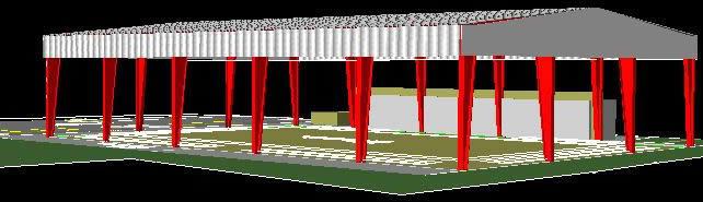 imagen Cancha bajo techo 3d, en Proyectos estadios - Deportes y recreación