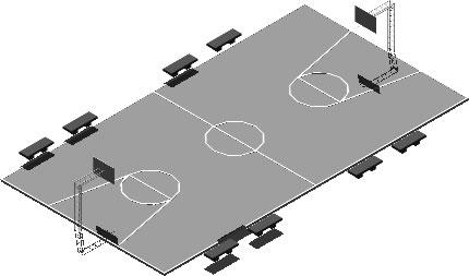 imagen Cancha basquetball 3d, en Canchas - Deportes y recreación