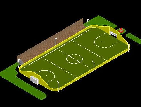 Planos de Cancha de futbol 3d en Canchas  Deportes y recreacin