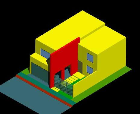 Planos de casa 3d en vivienda unifamiliar 3d proyectos en planospara - Planos de casa en 3d ...