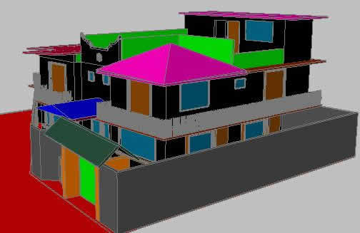imagen Casa 3d, en Vivienda unifamiliar 3d - Proyectos