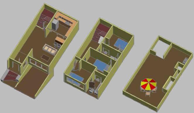 Planos de vivienda unifamiliar images for Plano casa 3d