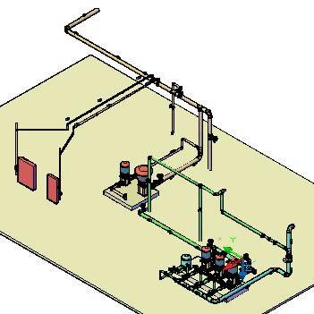 imagen Casa de bombas 3d, en Equipos de bombeo - Máquinas instalaciones