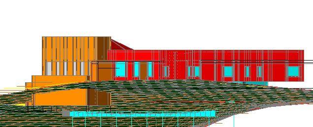 imagen Casa de campo 3d, en Hormigón armado - Detalles constructivos