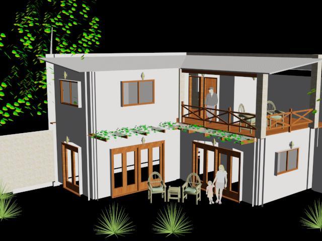 Planos de casa de fin de semana 3d en vivienda - Casa de fin de semana ...