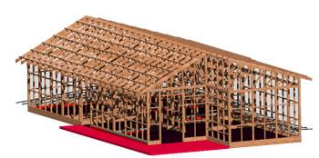 imagen Casa de madera, en Madera - técnica tradicional - Sistemas constructivos