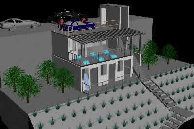 imagen Casa de playa 3d, en Vivienda unifamiliar 3d - Proyectos