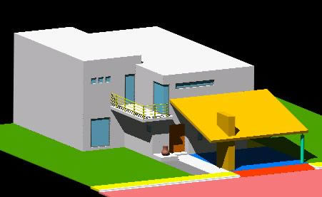 imagen Casa franciscanos 3d, en Vivienda unifamiliar 3d - Proyectos