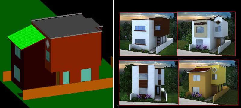 Vivienda unifamiliar 3d archives p gina 3 de 36 planos for Habitacion 3d autocad