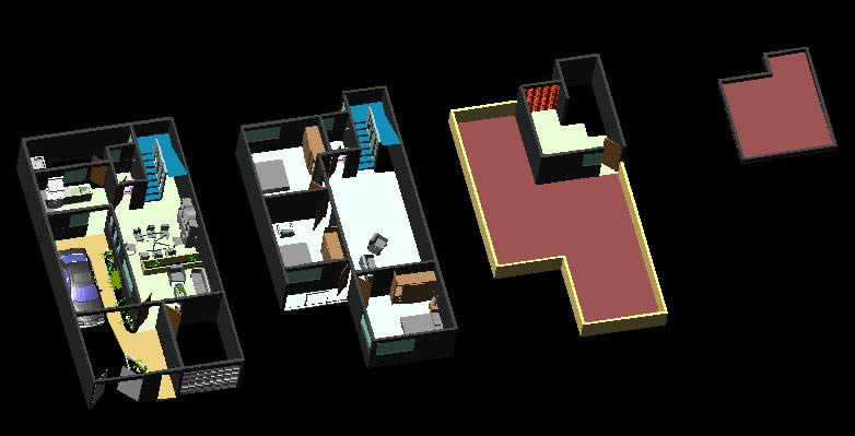 imagen Casa  habitación en 3d, en Vivienda unifamiliar 3d - Proyectos