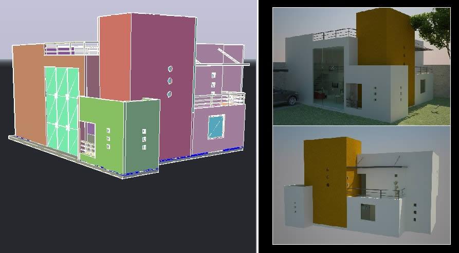 Vivienda unifamiliar 3d archives planos de casas for Casa minimalista planos