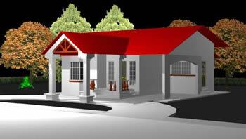Planos de casa modelo 3d en vivienda unifamiliar 3d for Modelo de casa familiar