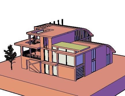 imagen Casa moderna 3d, en Vivienda unifamiliar 3d - Proyectos